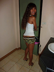Stolen pics of Ladyboy June barebacked by her boyfriend
