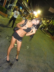 Hot Ladyboy Fon gets off picking up guys on the street
