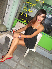 Ladyboy Nam is ready for a night on Walking Street and sex