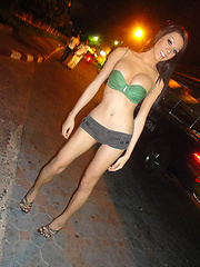 Ladyboy Army in lingerie and on Walking Street in Pattaya