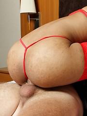Young ladyboy sucking cock with big pleasure