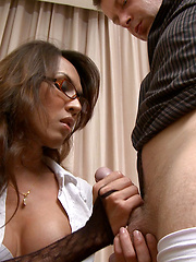 Ladyboy sex in the office