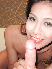 Hungry asian tranny licks cock and ass