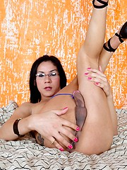 Nicole is a interesting result of an unexpected mix, her father oriental and mother latina