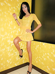 Yellow Dress Top Bareback