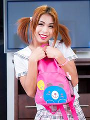 Backpack ladyboy babe Sunny