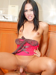 See young Asian tranny gets hard fucked