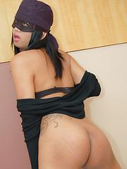See stealing ladyboy punished and banged