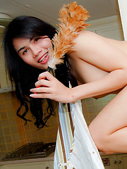 Hot ass-hell ladyboy cleaner gets fucked