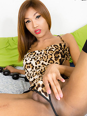 Fish is a stunning ladyboy! She is tall, slim, has beautiful sensitive boobs  that feels wonderful in the hands