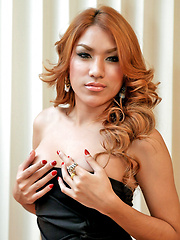 Hot curvy ladyboy undresses and wanks off