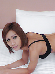Watch young Asian ladyboy filled with cock