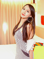 Young smooth ladyboy with a jerking addiction