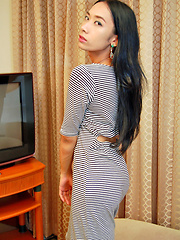 Cute young ladyboy gets down and dirty
