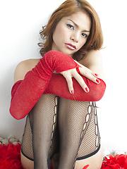 Red Boa Babe