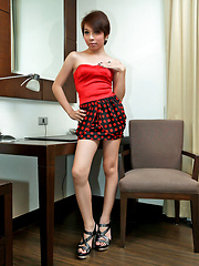 Cute little ladyboy has one solid siffy