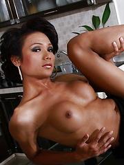 Super hot tgirl Sonya strips & poses