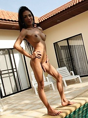 Sexy Thai Ladyboy Ja By The Pool
