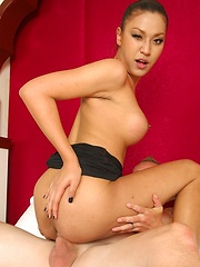 Gorgeous Thai Ladyboy Zonia Pounded