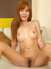 Post Op Jib opens her ladyboy pussy