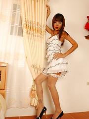 Small, skinny, cute Asian ladyboy Nadia Love