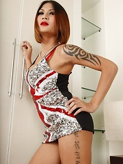 Ladyboy Benzey Union Jack Dress