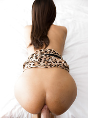 Big Dick Bareback in Leopard Dress
