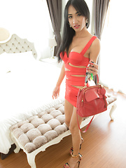 Slutty Red Dress Barebacking