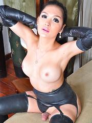 Erika Fox: Latex Ladyboy