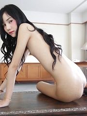 Really skinny ladyboy sucks dick like a champion and earns facial
